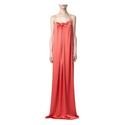 Coral Long Slip Dress