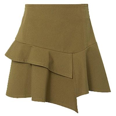 Asymmetric Ruffle Mini Skirt