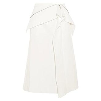 Axis Ruffled Cotton-Blend Skirt