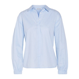 Estelle Striped Cotton-Poplin Shirt