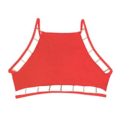 Seona Metal Detail Bikini Crop Top