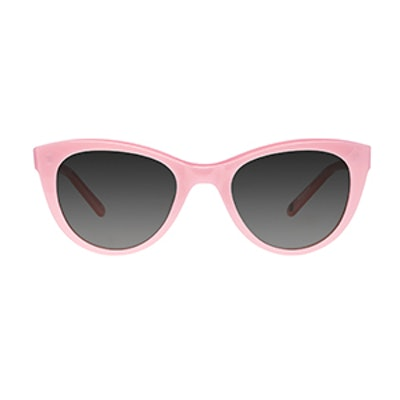 Clare V. Collab Sunglasses in Rougir with Blue Gradient