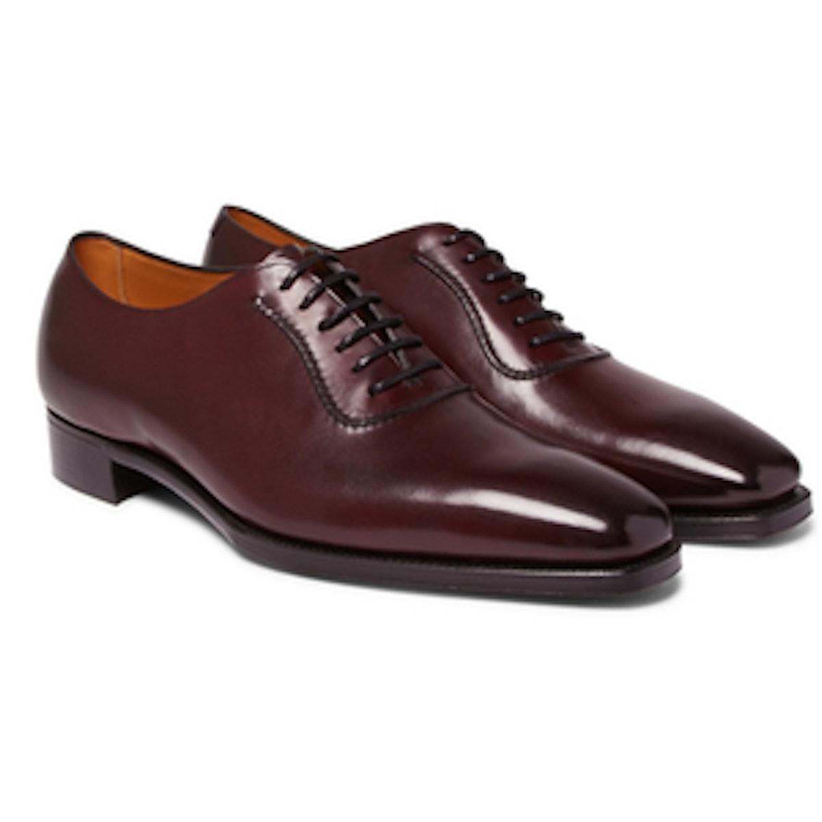 Westbury Burnished-Leather Oxford Shoes