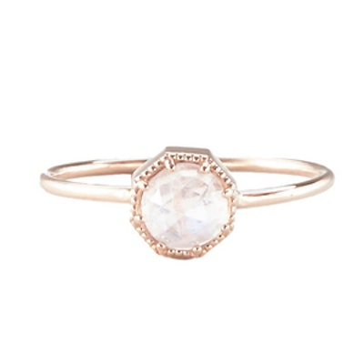 Crown Bezel Ring Moonstone