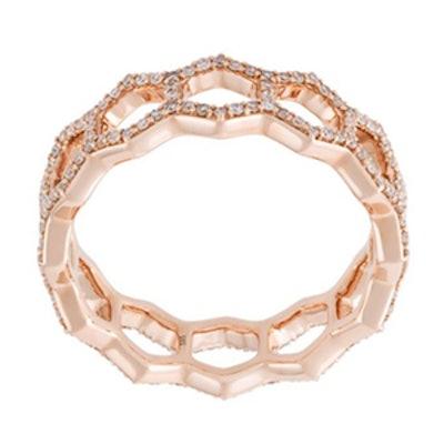 Honeycomb Diamond Band Ring