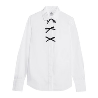 Thomas Mason Bow-Embellished Cotton-Poplin Shirt