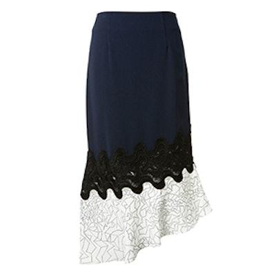 Navy Blue Midi Skirt