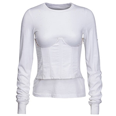 Long Sleeve Corset T-Shirt