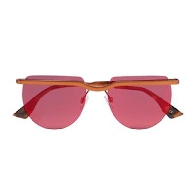 Mafia Moderne Copper-Tone Sunglasses
