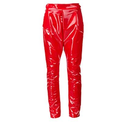 Vinyl Slim Fit Trousers