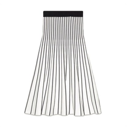 Jibralto Striped Knit Midi Skirt