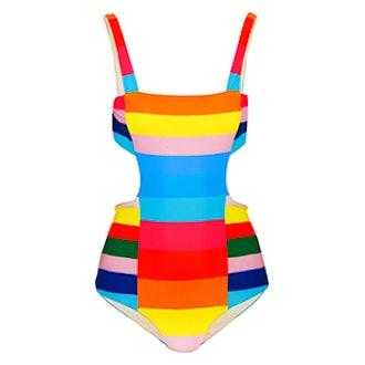 Vela Striped Cutout Swimsuit