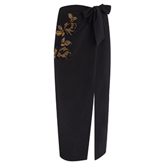 Limited Edition Embroidered Midi Skirt
