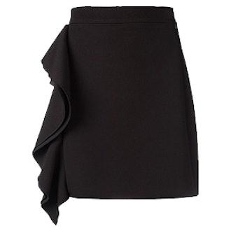 Ruffled Detail Straight Skirt