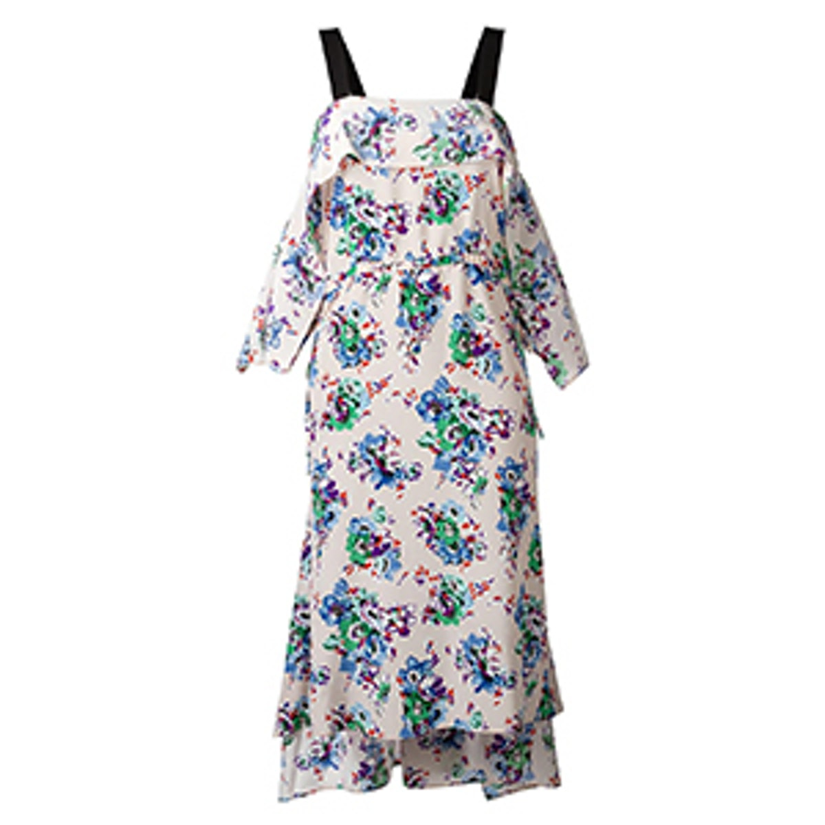Floral Print Pointed Dress