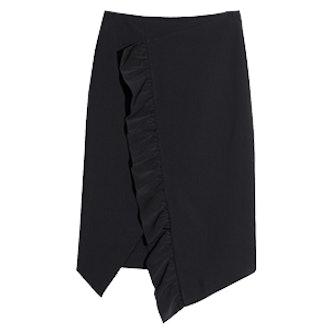 Frilled Slit Skirt