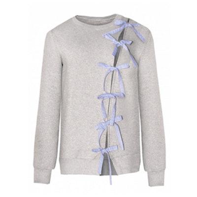 Diagonal Bow Tie Sweatshirt