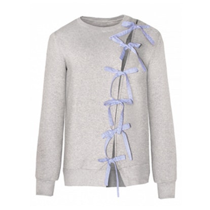 Diagonal Bow Tie Sweatshirt
