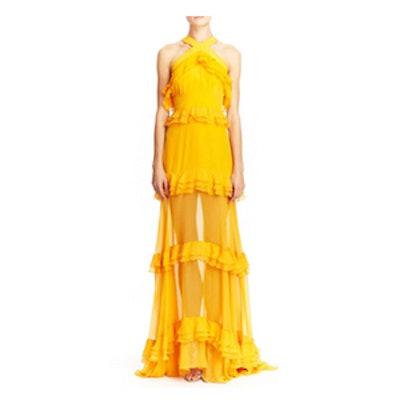 Halter Multi Tiered Gown