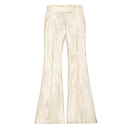 Rena Flared Metallic Trousers