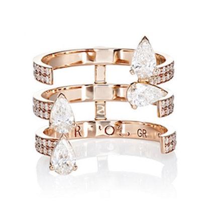 Serti Sur Vide Triple-Band Ring