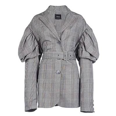 Prince of Wales Check Drop Sleeves Jacket