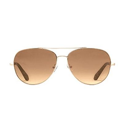 Chevron Aviator Sunglasses