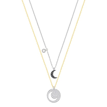 Crystal Wishes Moon Pendant Set