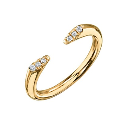 Pave Diamond Doorstop Ring