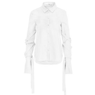 Satin Poplin Strappy Shirt