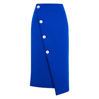 Statement Button Midi Skirt