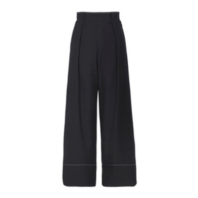 Stitched Wide Leg Trousers