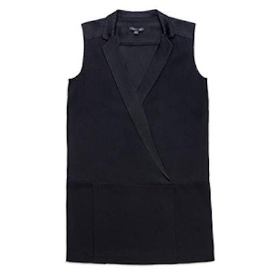 Tux V Neck Mini Dress
