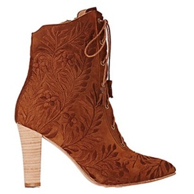 Embroidered Audrey Ankle Boots