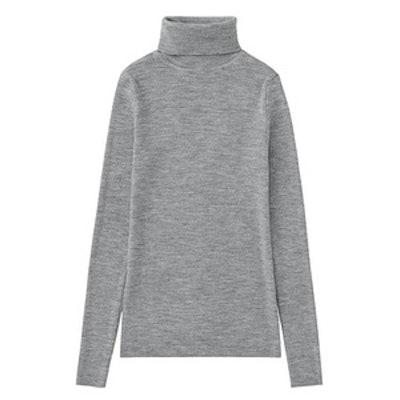 Extra Fine Merino Ribbed Turtle Neck Sweater