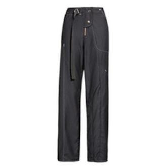 Asymmetrical Wool Gabardine Trousers