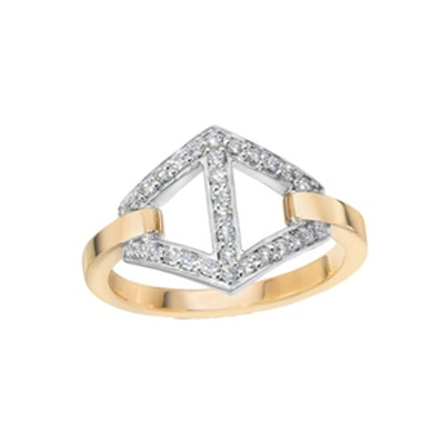 Keynes Signature Medium Diamond Hexagon Ring