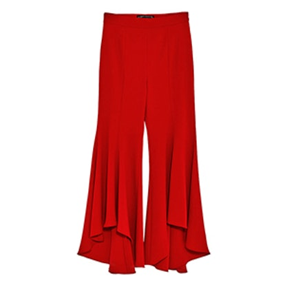 Asymmetric Flare Trousers