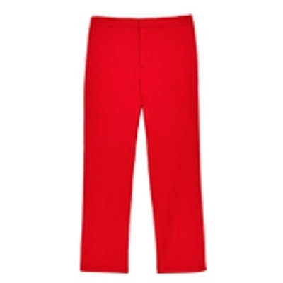 Cropped Straight-Cut Trousers
