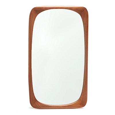Natural-Coloured Irregular Rectangular Mirror