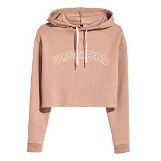 Short Hooded Sweatshirt