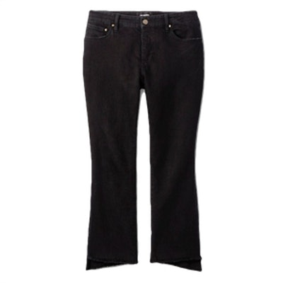 Who What Wear Raw Hem Cropped Jeans