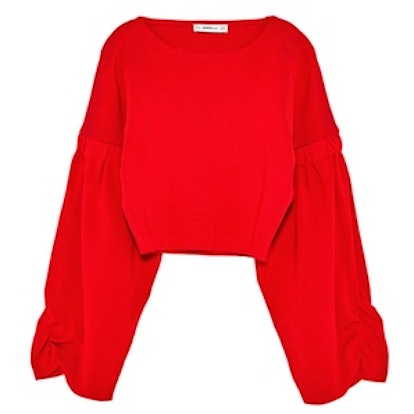 Cropped Sweater With Full Sleeves