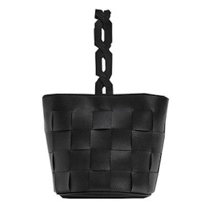 Geometric Bucket Bag With Braided Handle