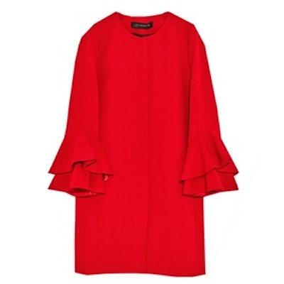 Frilled Sleeve Coat