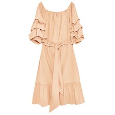 Off-The-Shoulder-Poplin Dress