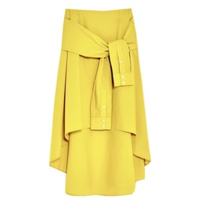 Midi Skirt With Sleeve Detail