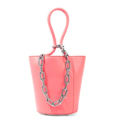 Roxy Mini Chain-Embellished Leather Tote