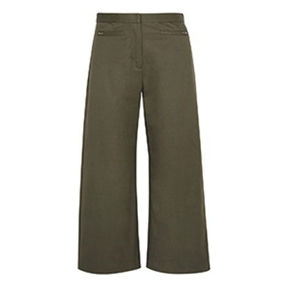 Stretch-Cotton Twill Culottes