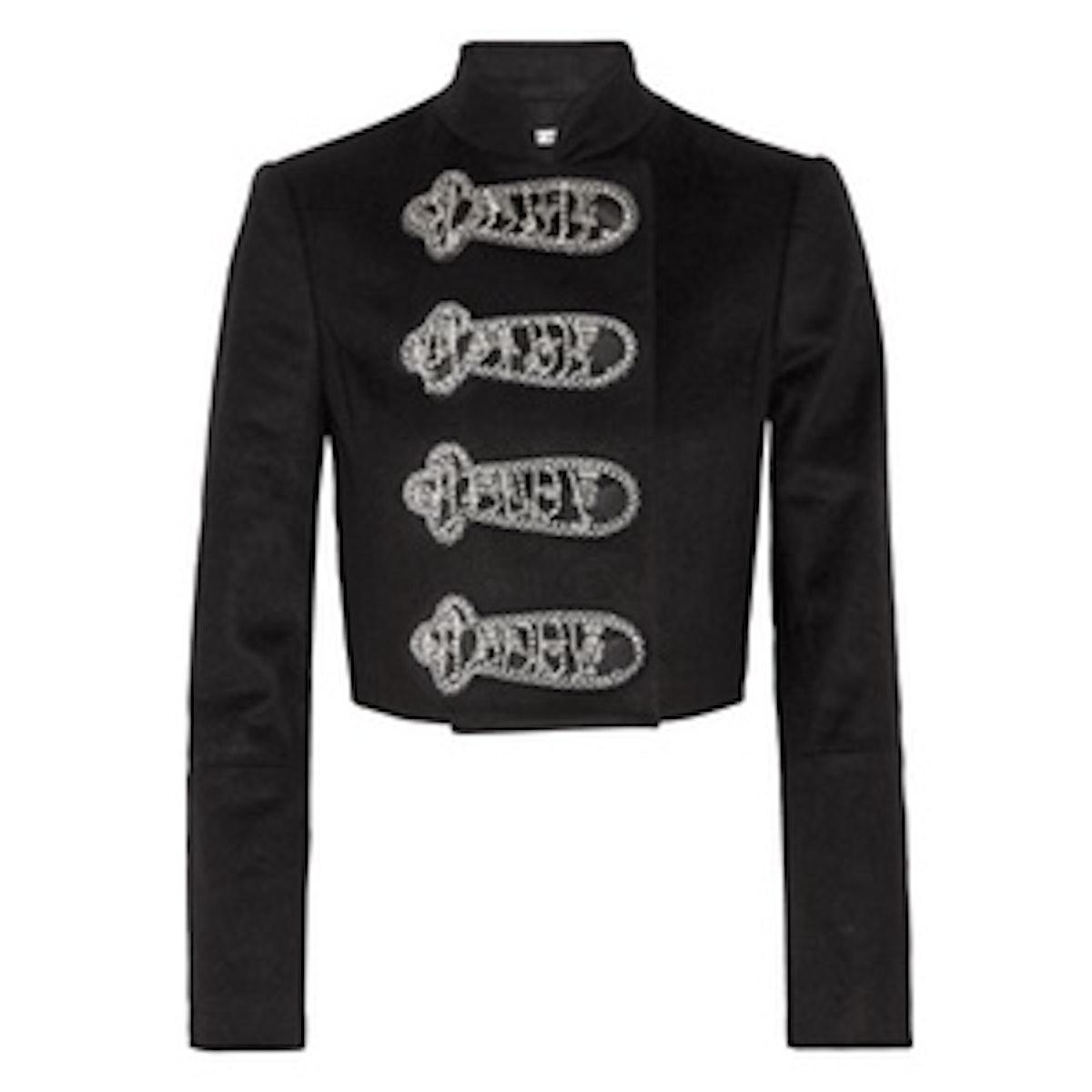 Josette Embellished Wool-Blend Jacket
